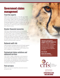 Thumbnail of Government Claims Management Brochure